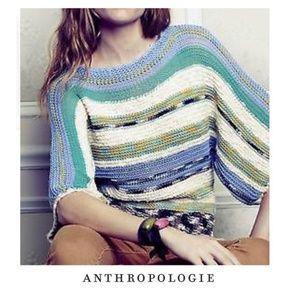 Anthro Rosie Niera Dolman Sleeve Rainbow Sweater